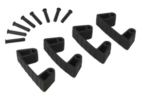 Vikan Rubber Clip x 4 for 1017 and 1018, 120 mm Lean 5S Products UK