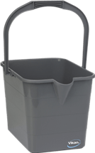 Vikan Mop Bucket,15 Litre, Grey Lean 5S Products UK