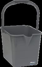 Vikan Mop Bucket,15 Litre, Grey
