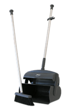 Vikan Dustpan set closed with broom and squeegee, 1050 mm, Grey