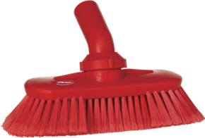 Vikan Washing Brush with Angle adjustment, waterfed, 240 mm, Soft/split