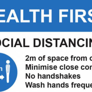 Health First Factory Sign A5 Lean 5S Products UK
