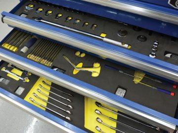 The benefits of custom tool shadow boards