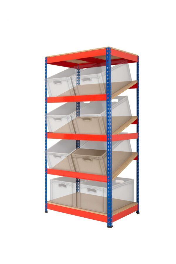 Kanban Shelving with 3 Sloping Shelves Lean 5S Products UK