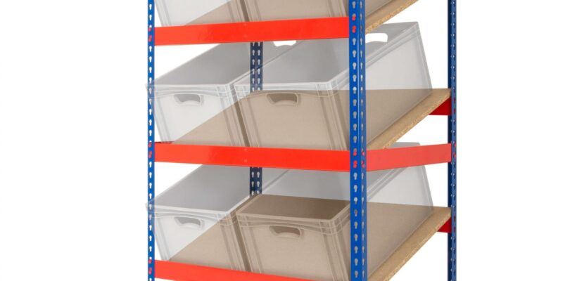 Kanban Shelving with 3 Sloping Shelves