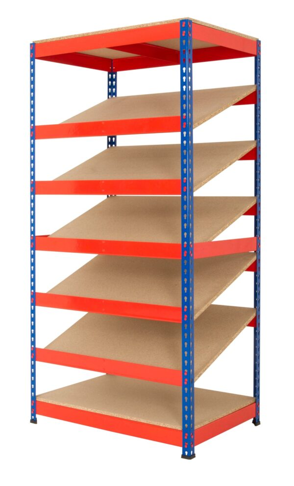 Kanban Shelving with 5 Sloping Shelves Lean 5S Products UK