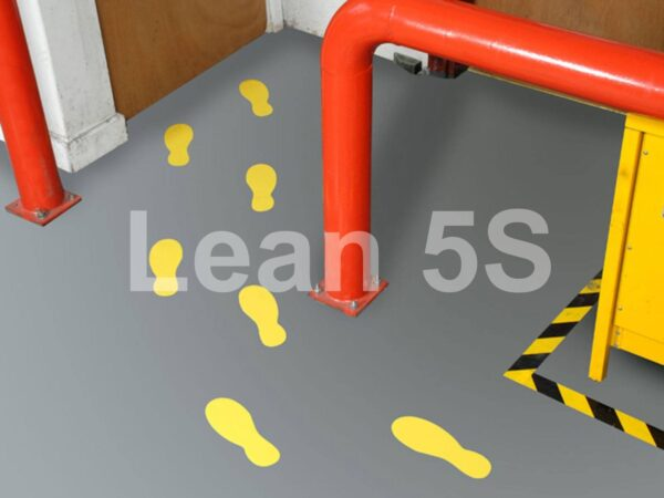 5S Footstep Floor Markers Lean 5S Products UK