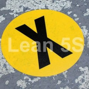 Red Keep Your Distance Floor Marker (Standard) Lean 5S Products UK