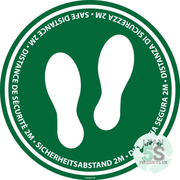 Social Distancing Floor Marker (Industrial) Lean 5S Products UK