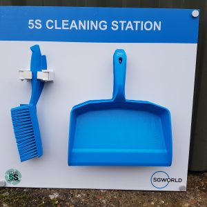 Shadow Board Cleaning Station - Fully stocked Medium Lean 5S Products UK