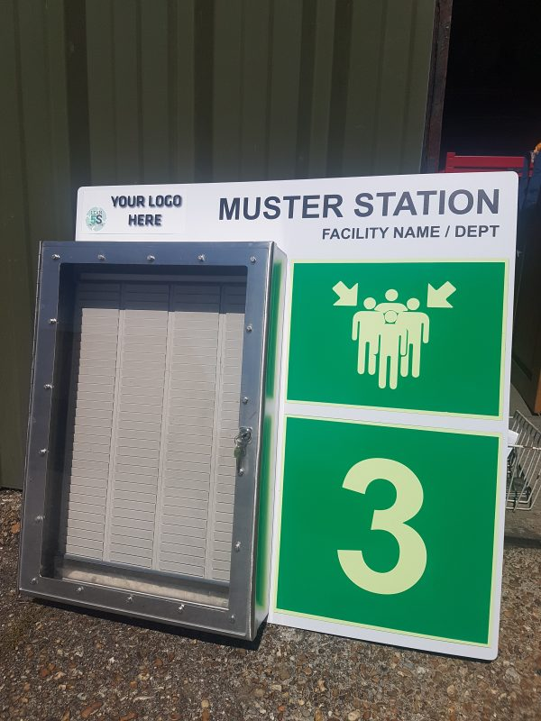 Custom Muster Board complete with T-Card System Lean 5S Products UK